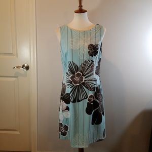 Blue and Brown Floral Dress size 10 by Connected
